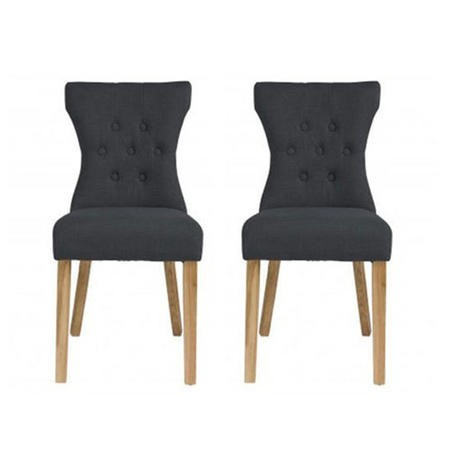 LPD Naples Dining Pair of Chairs Grey