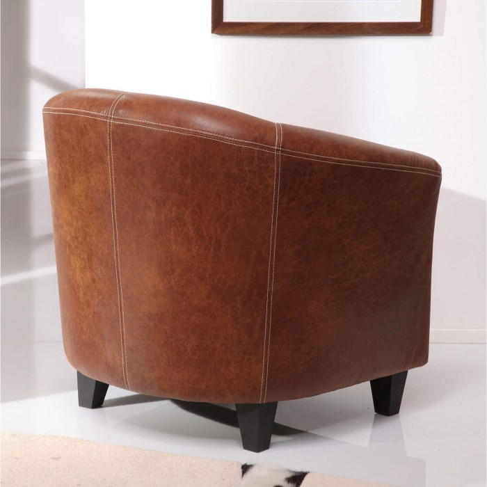 wilkinson furniture nelson antique tan faux leather tub chair