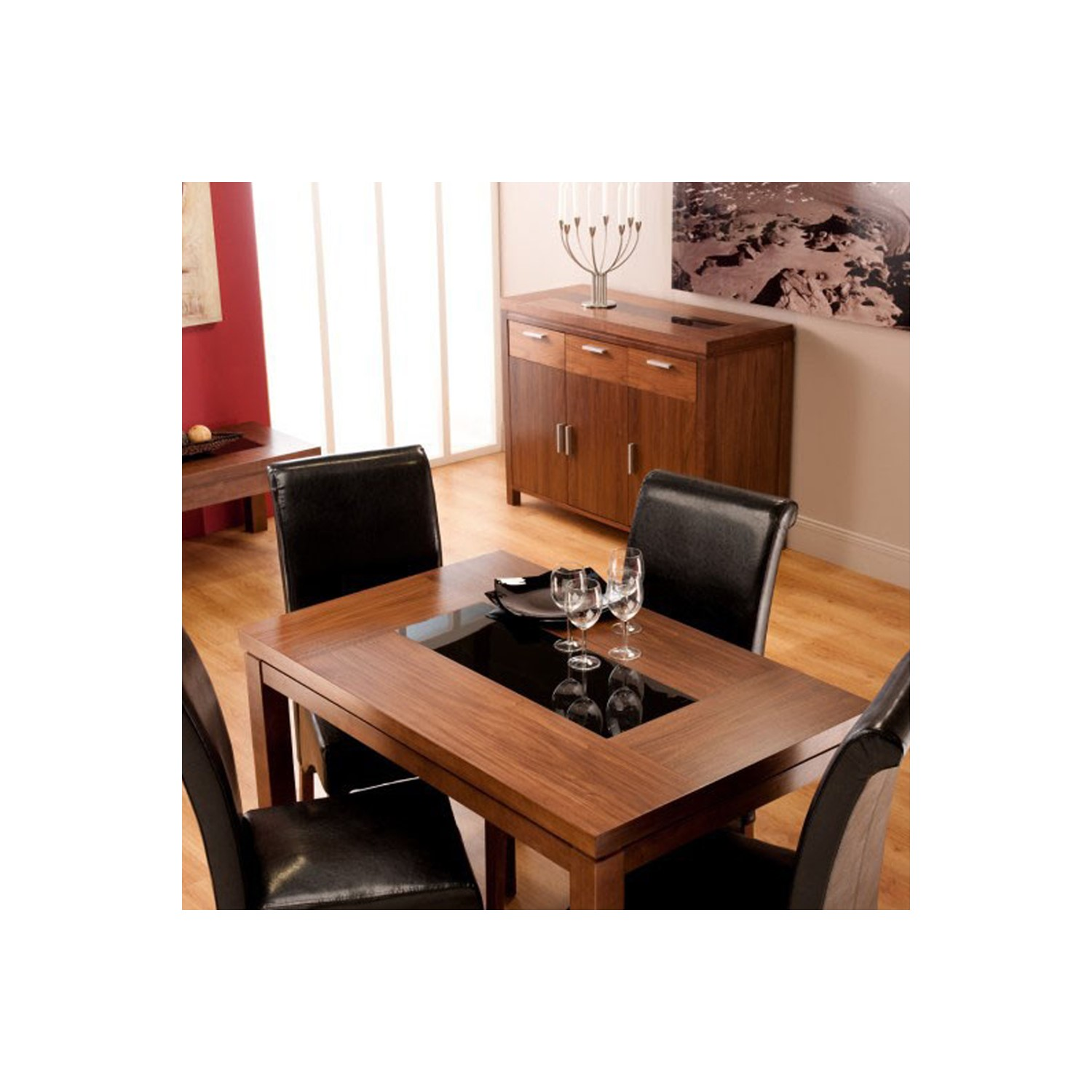 World Furniture Nevada Small Walnut Dining Table Chairs NOT
