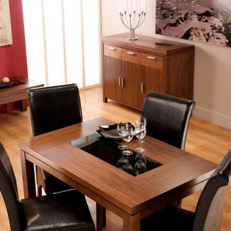 World Furniture Nevada Small Walnut Dining Table Chairs