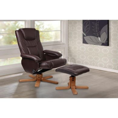 Birlea Furniture Nevada PU Leather Swivel Chair in Brown
