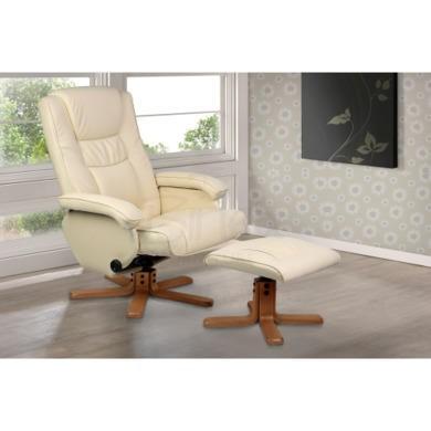 Birlea Furniture Nevada PU Leather Swivel Chair in Cream