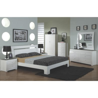 Wilkinson Furniture Newport Double Bed Frame in White Gloss