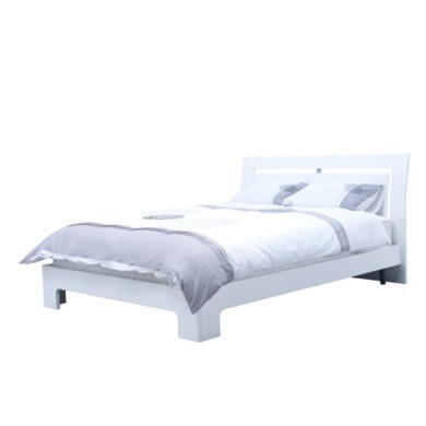 Wilkinson Furniture Newport Kingsize Bed Frame in White Gloss