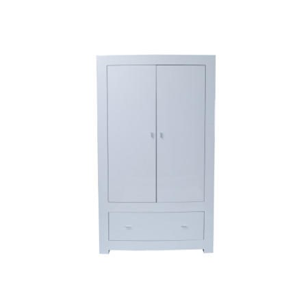 Vida Living Newport Double Wardrobe with Drawer in White Gloss