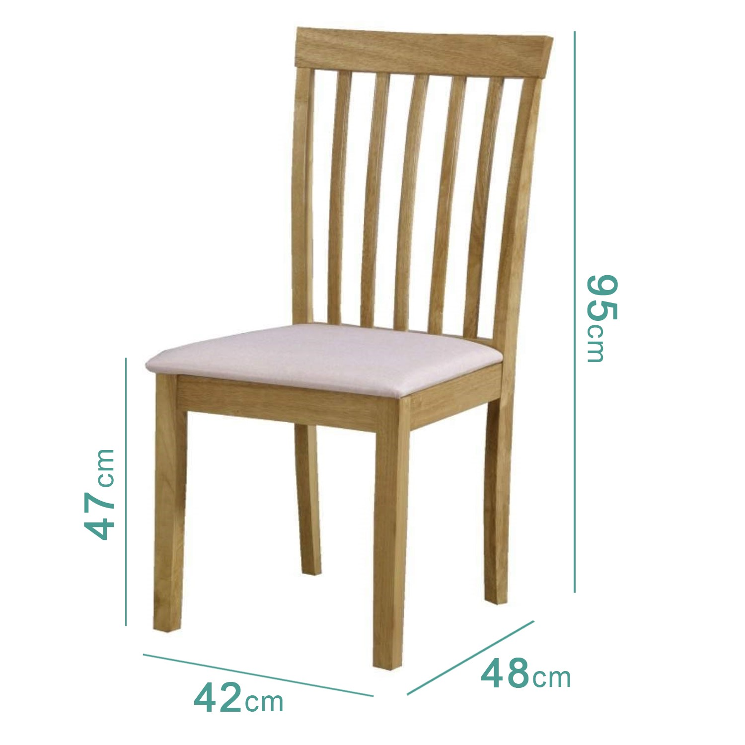 Cool Set Of 2 Wood Dining Chairs With Cream Fabric Seats New Haven Cjindustries Chair Design For Home Cjindustriesco