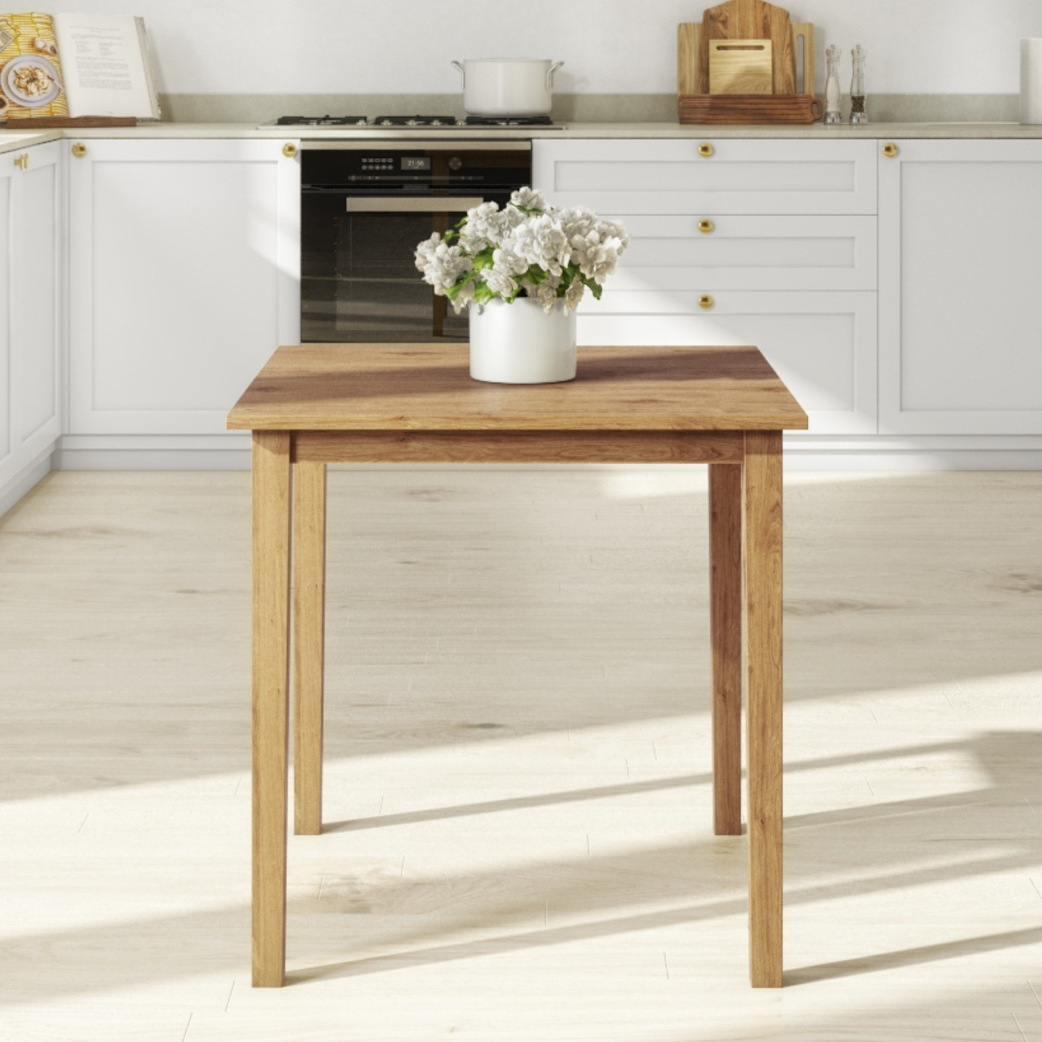 Square Oak Dining Table Seats 4 New Haven Furniture123