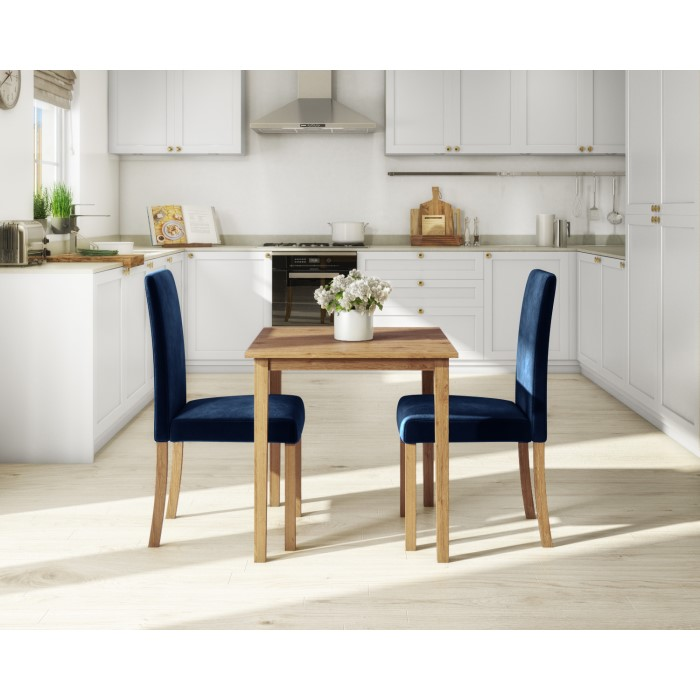 New Haven Small Space Saving Square Dining Table Light Oak