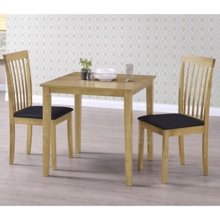 New Haven Small Space Saving Square Dining Table - Light Oak
