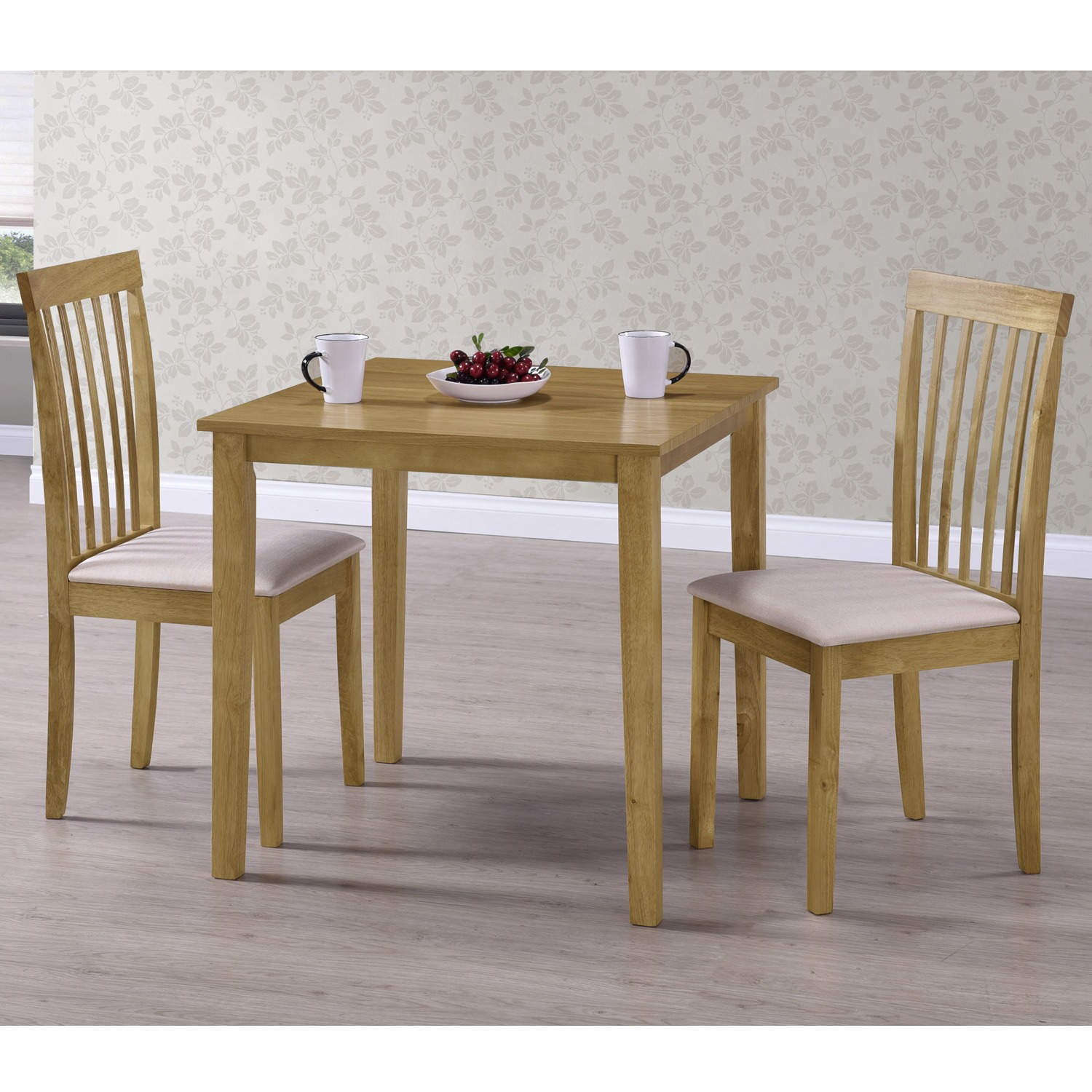 Grade A2 New Haven Small 2 Seater Dining Table In Light Oak 75cm X 75cm Furniture123
