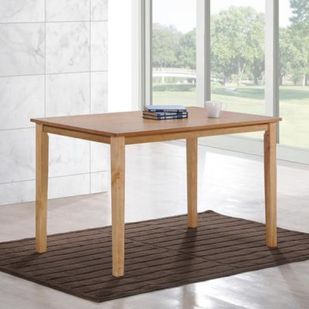 New Haven Rectangle Wooden Dining Table in Light Oak - 4 Seater