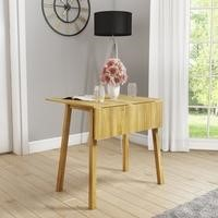 New Haven Drop Leaf Table in Light Oak Finish
