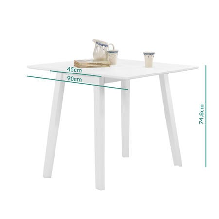New Haven White Drop Leaf Space Saving Dining Table