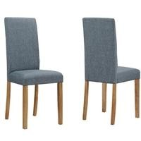 New Haven Pair of Chairs in Slate Fabric