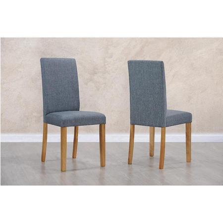New Haven Pair Of Chairs In Slate Grey Fabric Furniture123