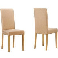 GRADE A1 - New Haven Pair of Chairs in Oatmeal Fabric