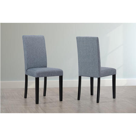 New Haven Pair Of Chairs In Slate Fabric With Black Legs