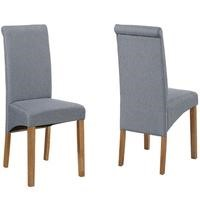 New Haven Pair of Roll Back Chairs in Slate Fabric