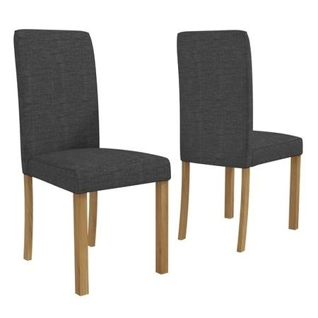 New Haven Pair of Chairs in Charcoal Grey Fabric