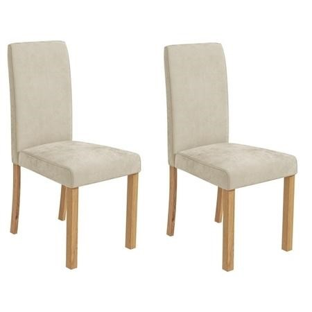 Pair of Velvet Cream Dining Chairs - New Haven