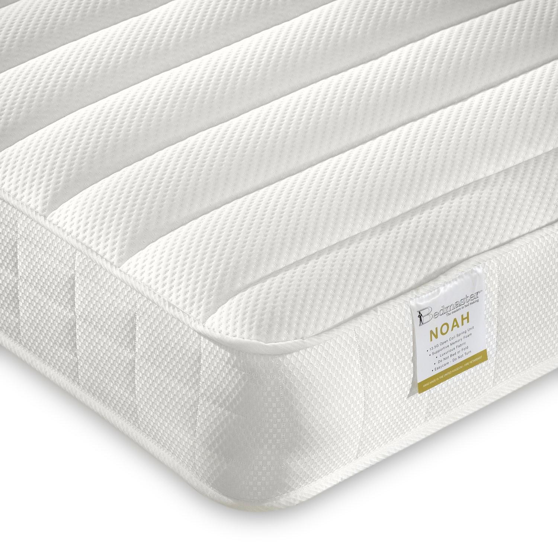 Noah luxury coil sprung memory foam single mattress - medium/firm