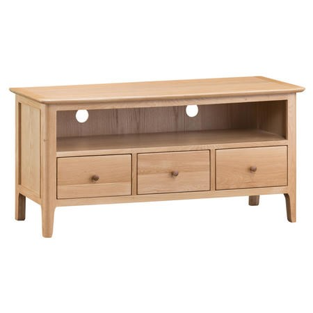 Keswick Large TV Cabinet in Light Oak