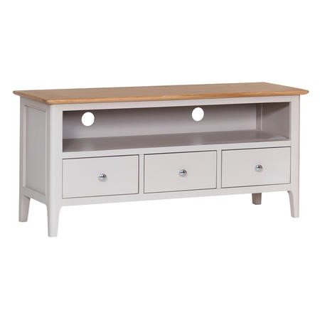 Keswick Large TV Cabinet in Grey and Oak - TV's up to 55""