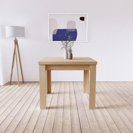 Extendable Flip Top Oak Dining Table - Seats 4 - New Town