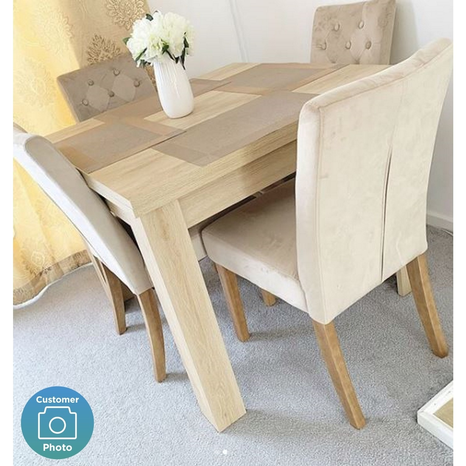 Picture of: Extendable Flip Top Oak Dining Table Seats 6 New Town Furniture123
