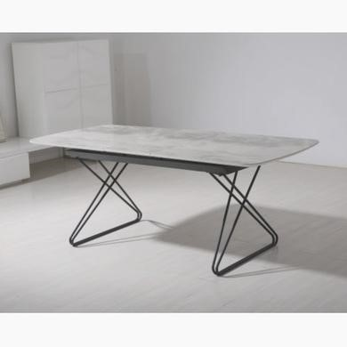 Vida Living Nero Ceramic Marble Extendable Dining Table Top