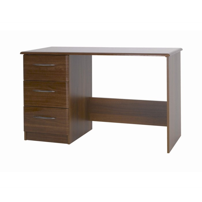 One Call Furniture Murano Dressing Table In Walnut Gloss