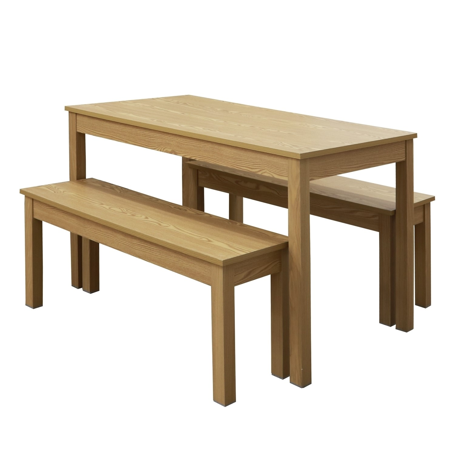 Superb Lpd Ohio Oak Dining Table And Bench Set Gmtry Best Dining Table And Chair Ideas Images Gmtryco