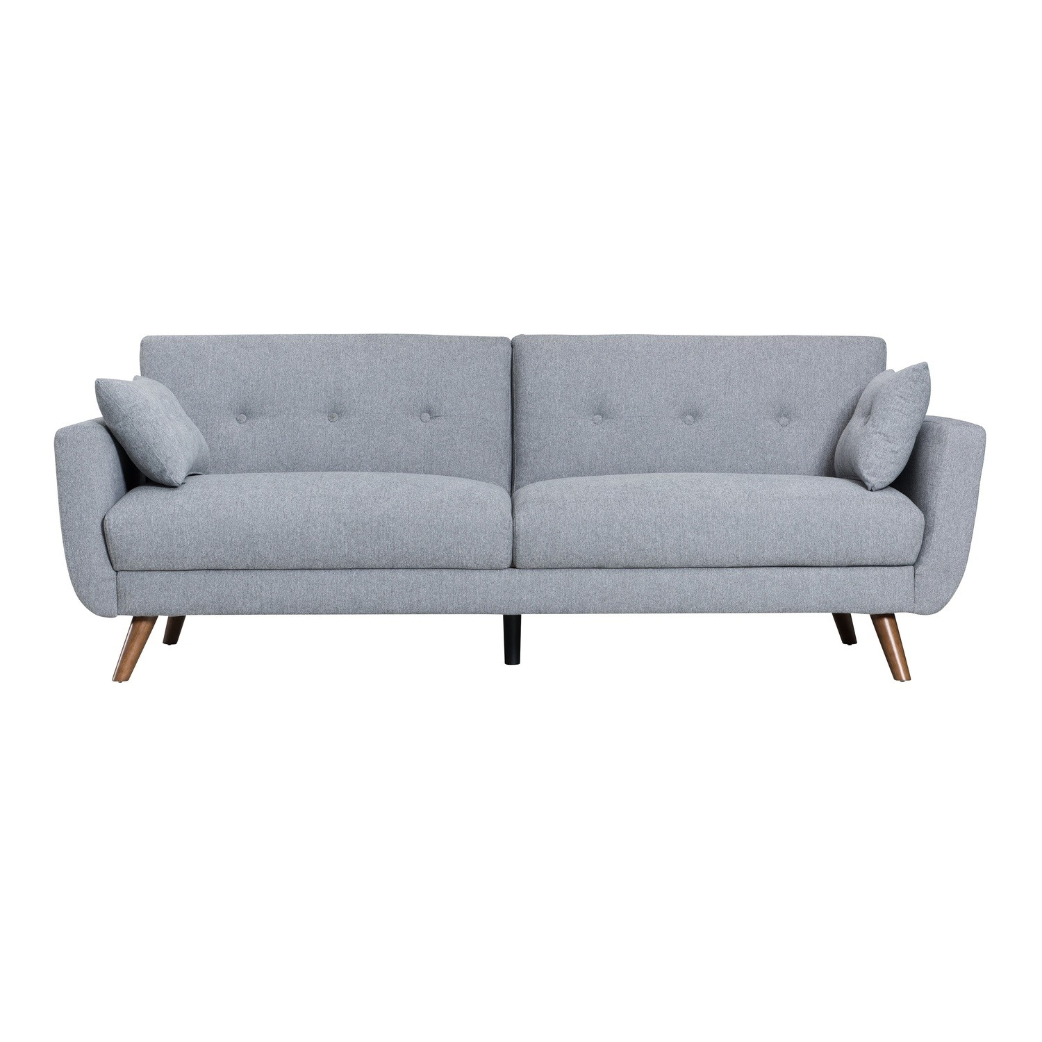 Picture of: Oslo 3 Seater Sofa Bed In Charcoal Grey Fabric Furniture123