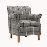 Granite Check Accent Armchair