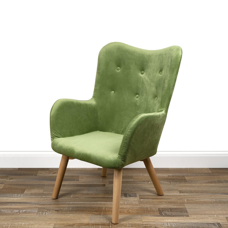 Green Velvet Wingback Chair  Owen