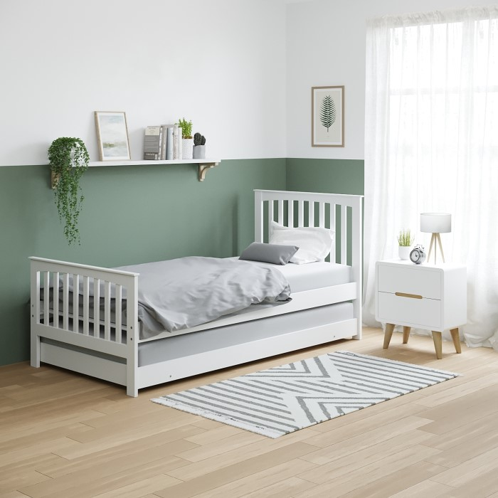 trundle guest pullout itm ebay s in single mattress on bed cheapest with