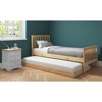 Oxford Single Guest Bed in Pine - Trundle Bed Included