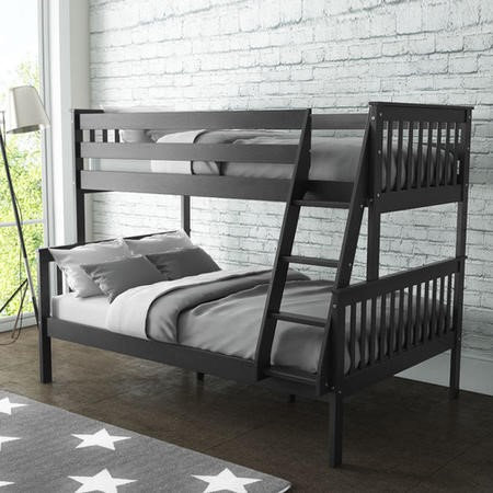 Oxford Triple Bunk Bed in Dark Grey - Small Double