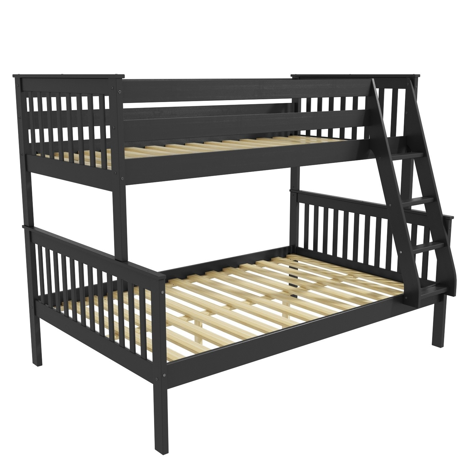 Picture of: Oxford Triple Bunk Bed In Dark Grey Small Double Furniture123