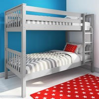 Oxford Single Bunk Bed in Light Grey
