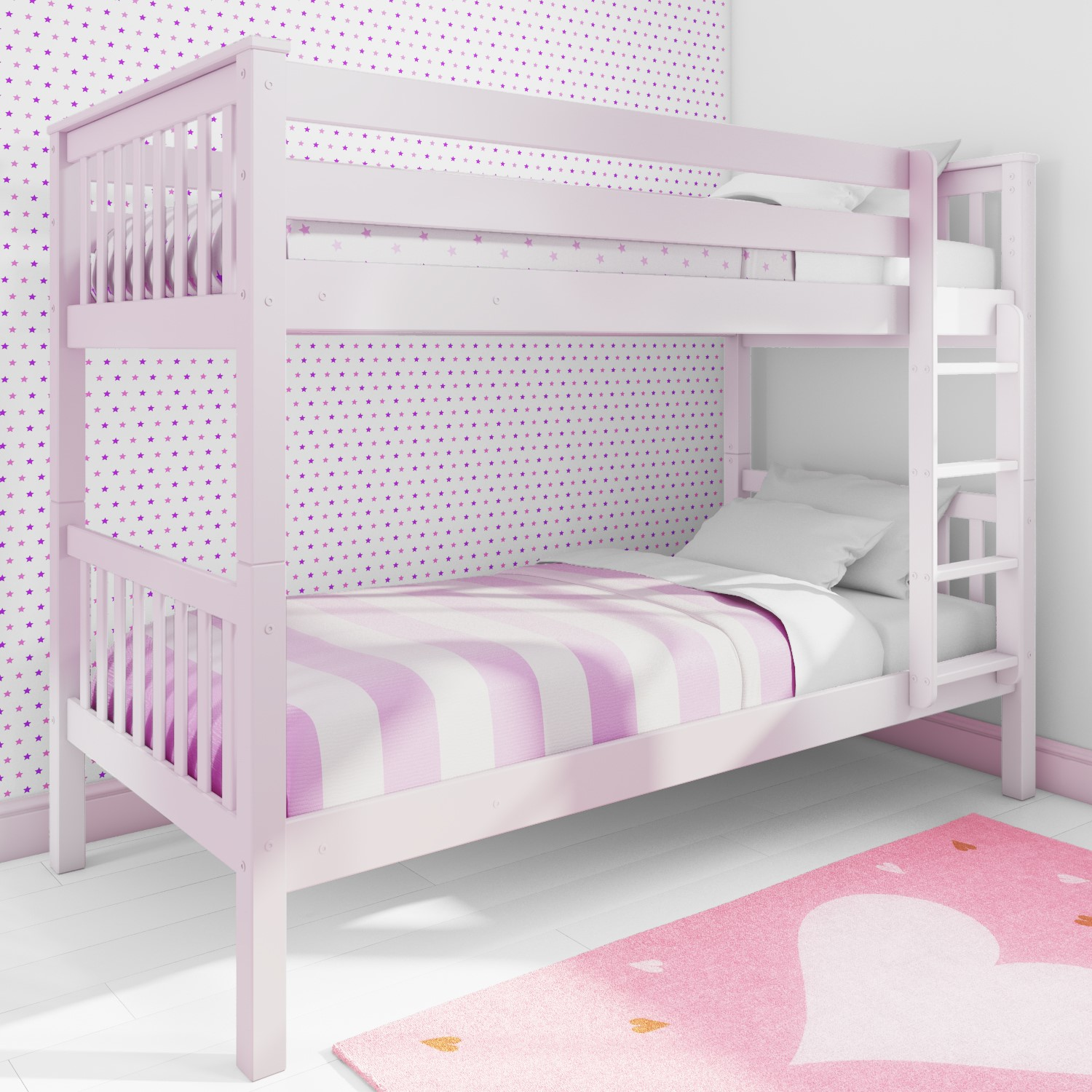 Picture of: Oxford Single Bunk Bed In Light Pink Furniture123