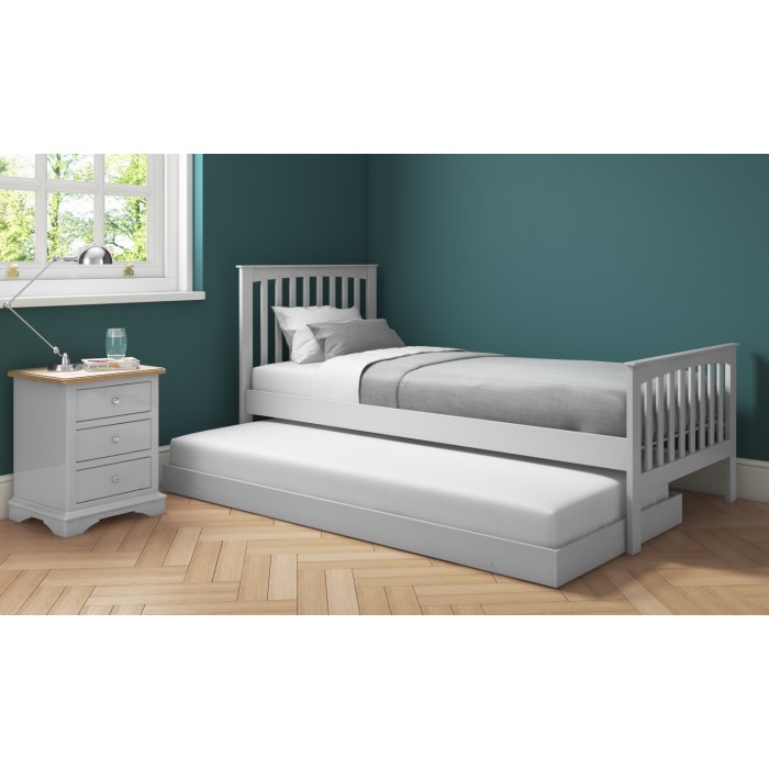 577481172f69 Oxford Grey Wooden Guest Bed with Trundle Included OXF021