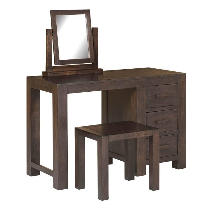 Pacific Solid Dark Oak Dressing Table Mirror   Walnut Effect. Pacific Solid Dark Oak Dressing Table Mirror   Walnut Effect