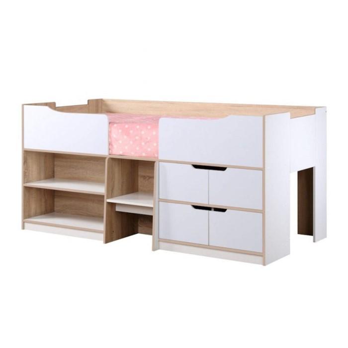 Birlea paddington cabin bed in white and oak furniture123 for Furniture 123 cabin bed