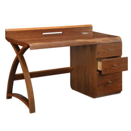Jual Walnut 3 Drawer Pedestal Desk