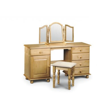 Julian Bowen Pickwick Double Pedestal Dressing Table