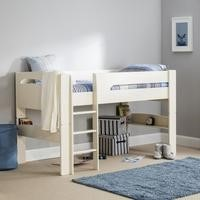 Julian Bowen Pluto Mid Sleeper in Stone White