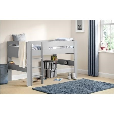 Julian Bowen Pluto Midsleeper Bed in Dove Grey with Blue Star Tent
