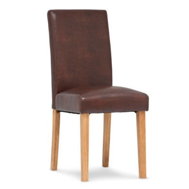 World Furniture Pair of Portman Dining Chairs in Antique Brown