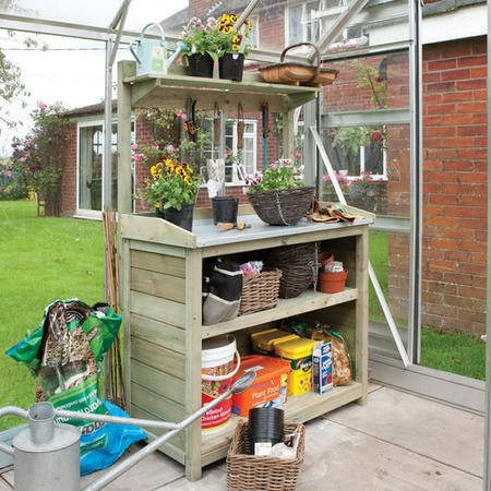 Rowlinson Premier Wooden Potting Station - Garden